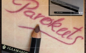 Swatch: Illamasqua: medium pencil Severe
