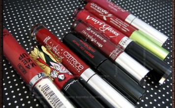 Red lipglosses and lip creams