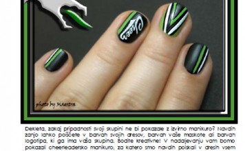 Maestra's Cheerleading manicure for Megafon (article by Maestra)