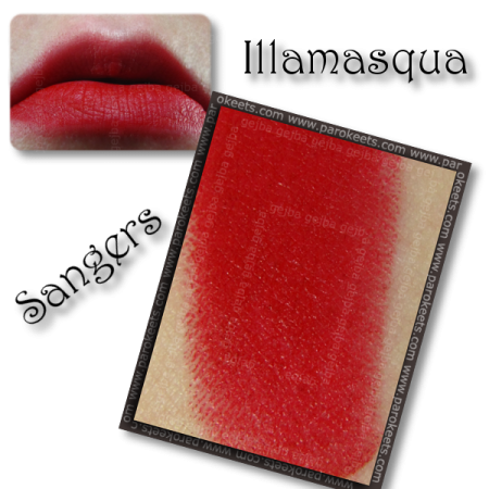 Illamasqua Throb collection: Sangers (lipstick) swatch