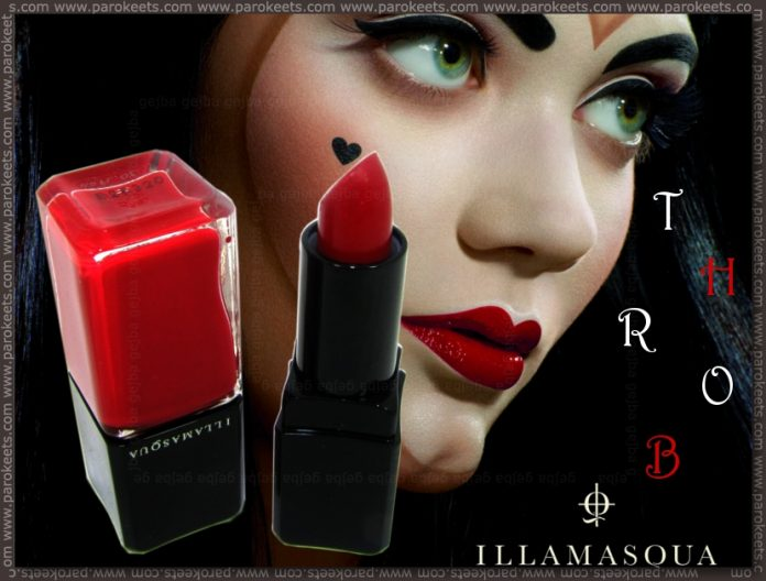 Illamasqua Throb collection: Throb (nail varnish), Sangers (lipstick)