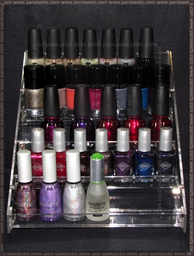 Magnetic: nail polish display (front)