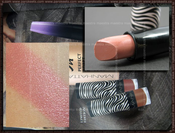 Swatch: Manhattan - Nude Couture: Rosewood lipstick