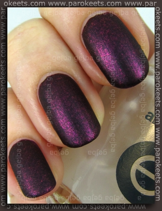 Zoya Valerie + Essie Matte About You swatch