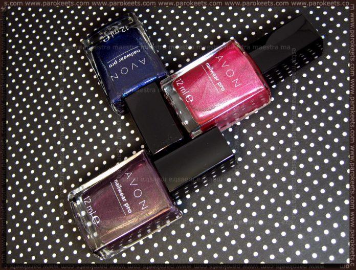 Avon - Nailwear Pro: Splendid Blue, Pink Radiance, Night Violet