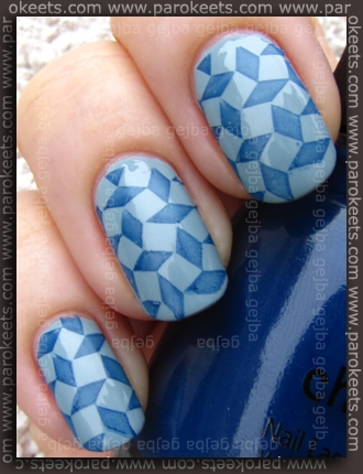China Glaze (Anchors Away): First Mate + Sea Spray + Essence IP konadicure
