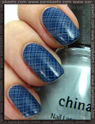 China Glaze (Anchors Away): Sea Spray + First Mate + Essence IP konadicure