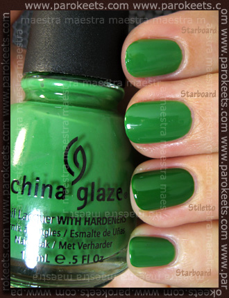 Comparison: China Glaze Anchors Away - Starboard vs Ciate Stiletto swatch