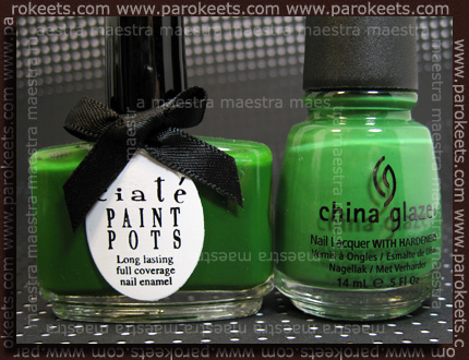 Comparison: China Glaze Anchors Away - Starboard vs Ciate Stiletto bottle