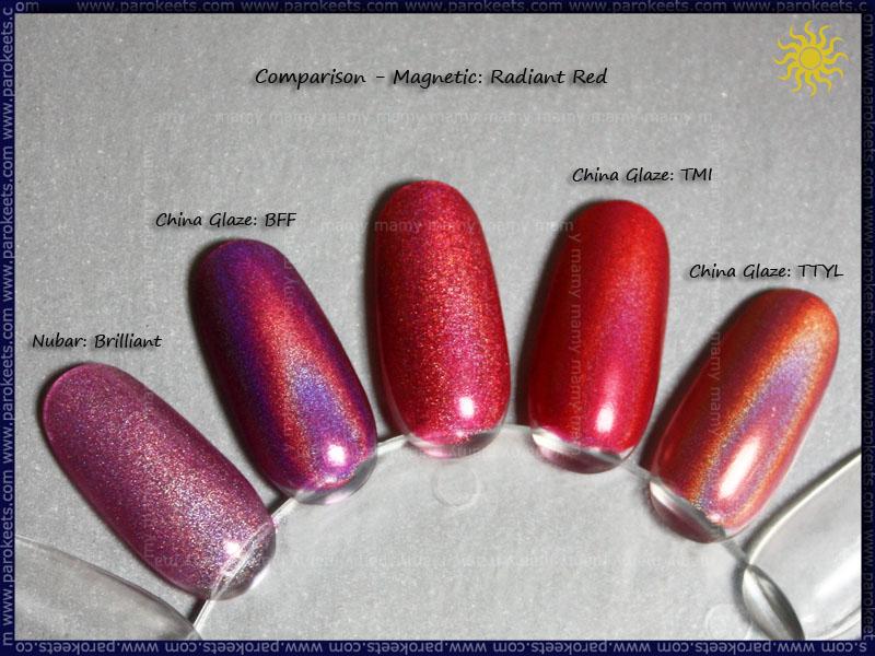 Comparison_Nubar_Brilliant_ChG_BFF_Magnetic_Radiant_Red_ChG_TMI_ChG_TTYL_Swatch