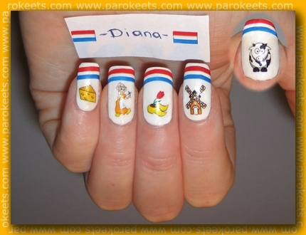 Diana Show Us Your Country on parokeets blog