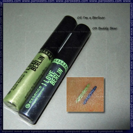 Essence: I Love Berlin - I'm A Berliner, Buddy Bear (liquid eyeliner) swatch