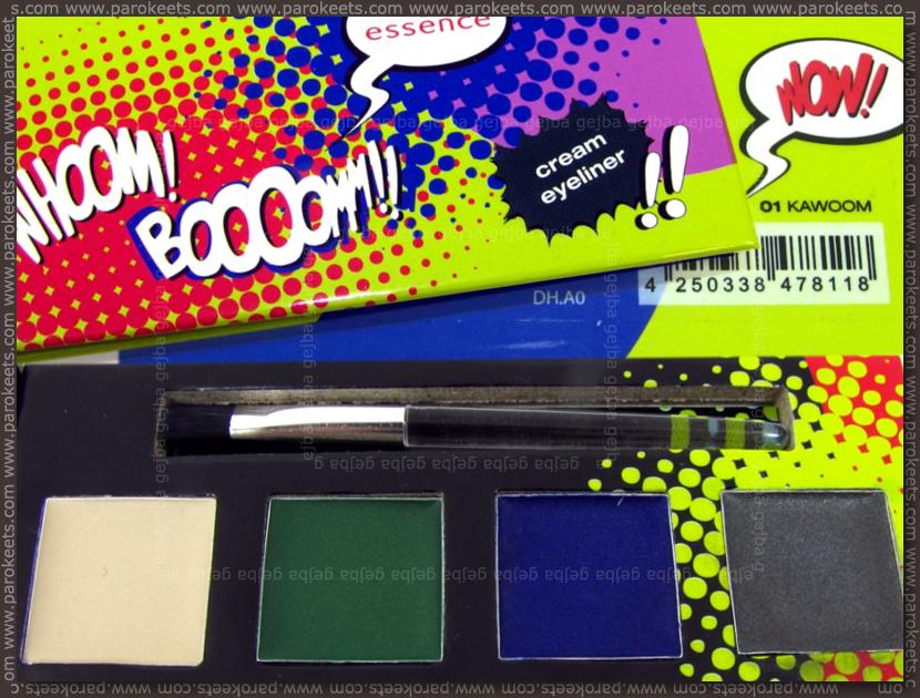 Essence: Whoom Boooom - Kawoom cream eyeliner palette by Parokeets