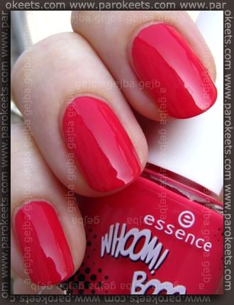 Essence: Whoom Boooom - Roy's Red polish swatch by Parokeets