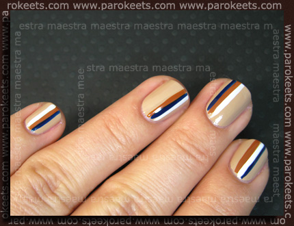 H&M - Spring Nails 2011: Blue/Beige set manicure by Maestra