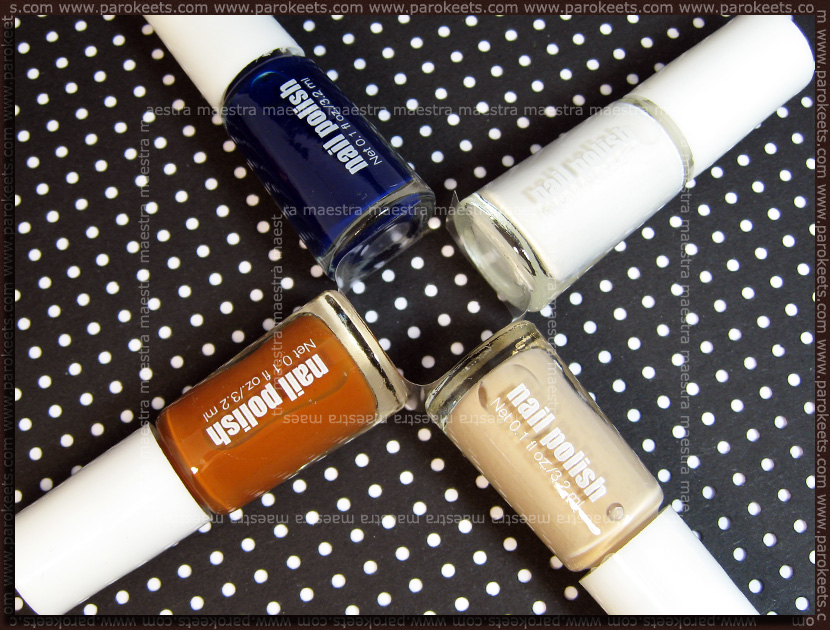 H&M - Spring Nails 2011: Blue/Beige set by Parokeets