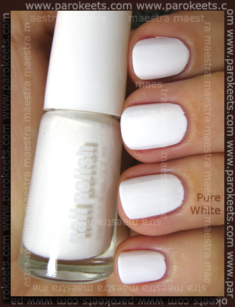 H&M - Spring Nails 2011: White vs. Pure White