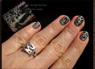 Lencia ring and manicure: H&M - You Rock My World + Barry M - crackle