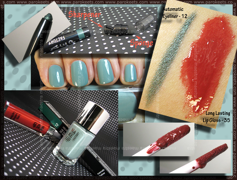 Swatch: Make Up Factory - Trend Colors - Spring/Summer 2011