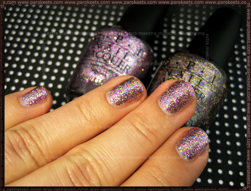 NOTD: OPI - Sparkle-icious and Show It And Glow It!