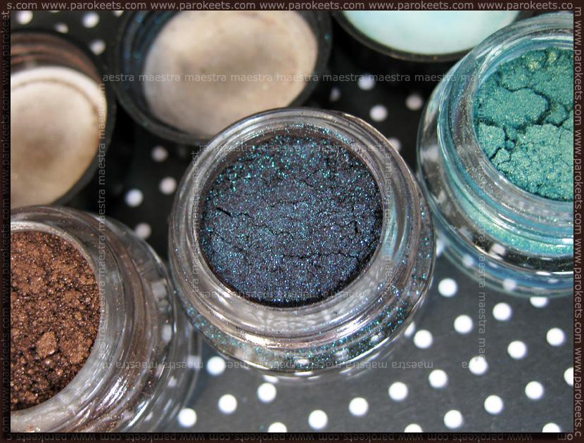 Barry M - Dazzle Dust: Chocolate, Petrol Black, Aqua Gold