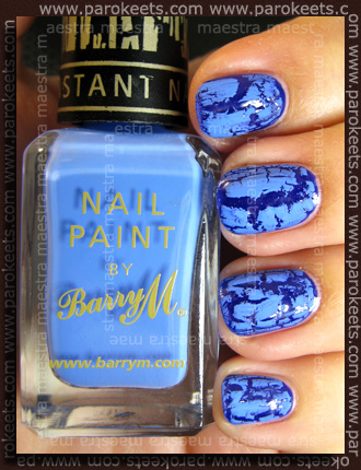 Swatch: Barry M - Instant Nail Effects: Blue Print 315