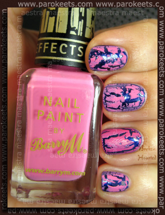 Comparison: Barry M - Instant Nail Effects: Pink Fizz 314 vs. China Glaze - Broken Hearted