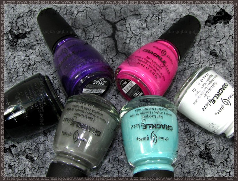 China Glaze Crackle Glaze ob Parokeets blog