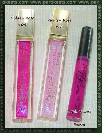 Golden Rose Diamonds Lipgloss 09 08 Copines Line Fucsia