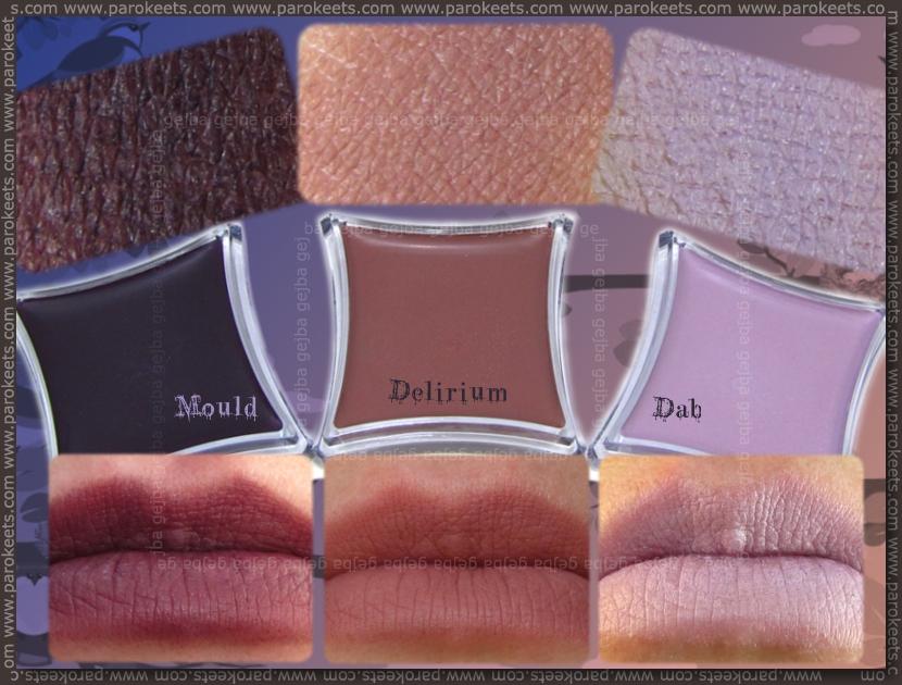 Illamasqua: Cream Pigment in Mould, Delirium, Dab swatch