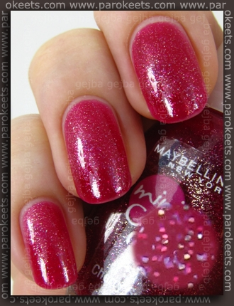 Maybelline mini Colorama: Cherry Sweet swatch by Parokeets