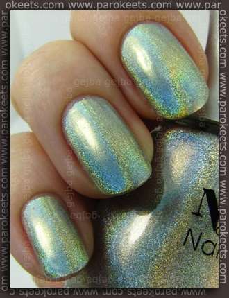 Nfu-Oh Hologram 66 swatch by Parokeets