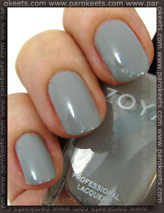 Zoya Intimate - Dove swatch by Parokeets