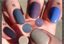 Alessandro nail polish: 67, 75, 57, 56, 72 swatch