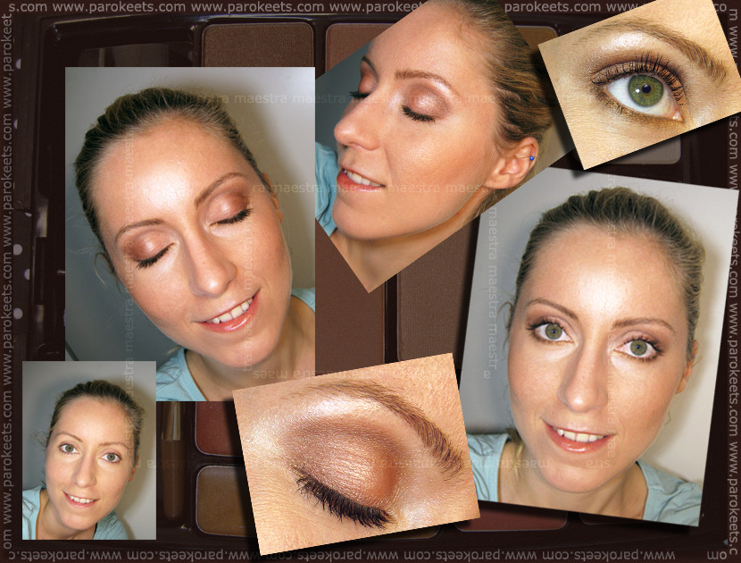 Make up by Maestra with Beauty UK - Bronzing palette (before and after)