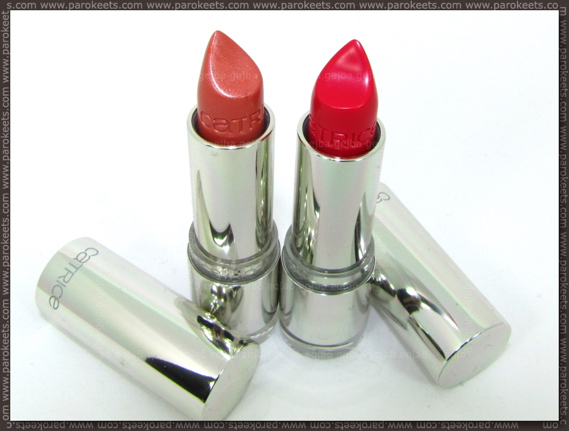 Catrice Ultimate Shine lipstick: Corallicious Pink and Berry Pink