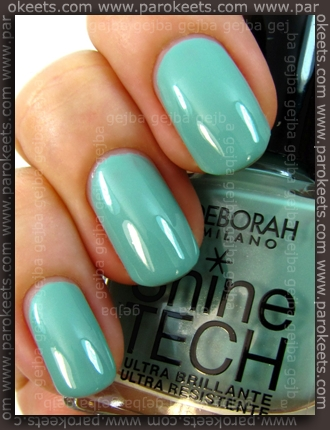 Deborah Shine Tech 55 swatch by Parokeets