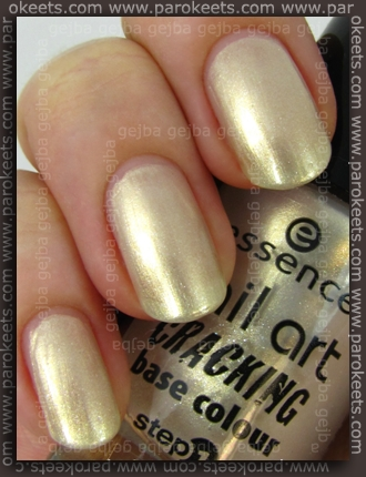Essence Sparkling Champagner swatch by Parokeets