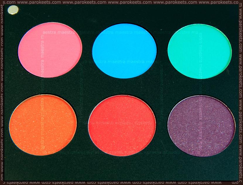 Inglot Freedom System Eyeshadow (round): AMC 72, AMC 50, AMC 51, Matte 372, Matte 371, Matte 362