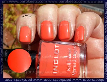 Inglot: 723 nail enamel (matte) Swatch