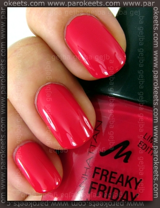 Manhattan Freaky Friday: 54K nail polish swatch