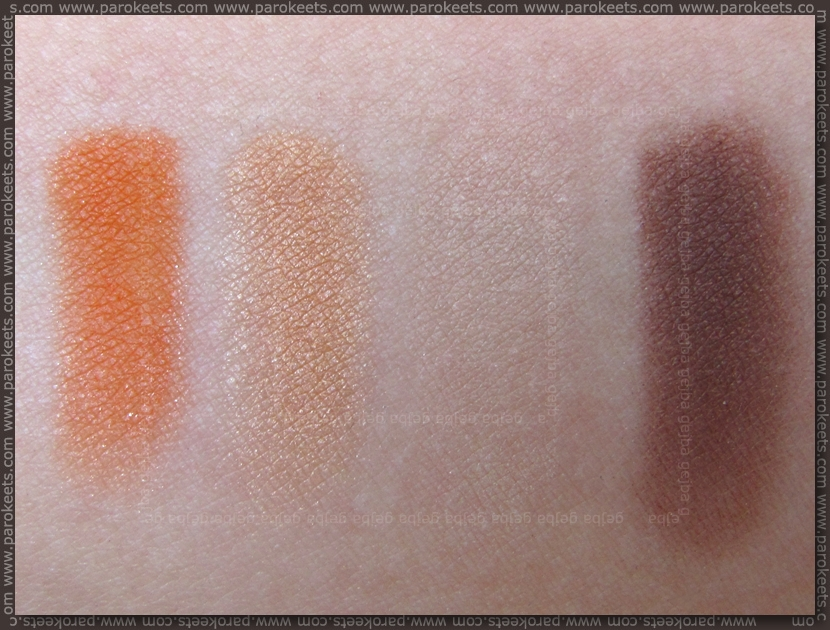 Manhattan Freaky Friday: Hot As Fire eyeshadow palette swatch