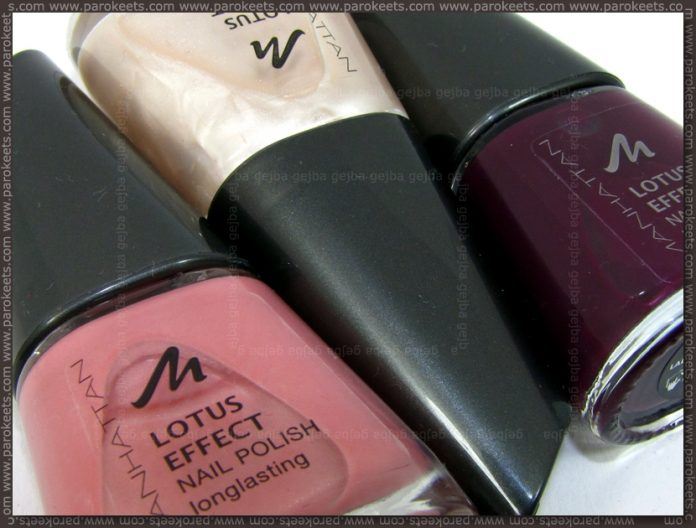 Manhattan nail polishes: 31A, 53R, 65W bottle