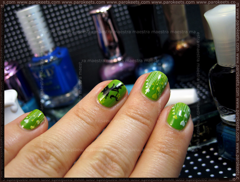 Manicure for Thriszha: Etude House - GR605 with Konad IP m83