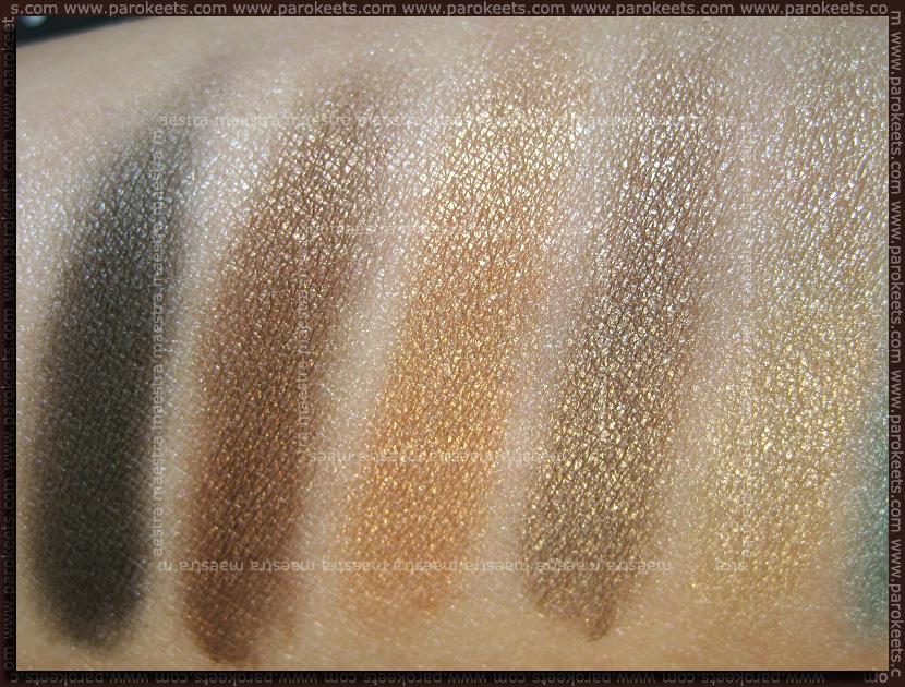 Swatch: NYX Ultra Pearl Mania: Black, Walnut, Mink, Mocha, Nude