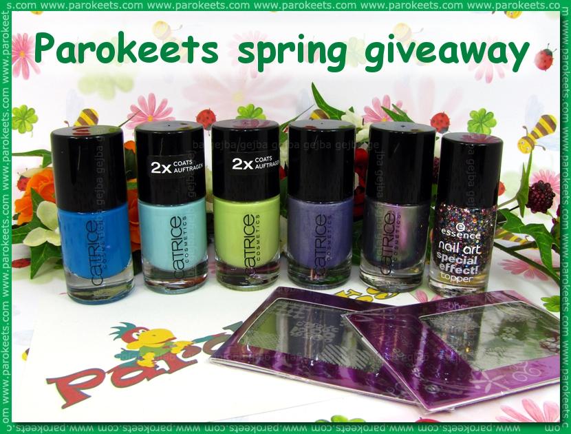Parokeets blog: Spring giveaway (2011) prize