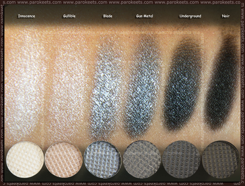 Swatch: Sleek i-Divine Bad Girl make up palette