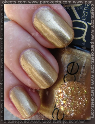 Catrice Papagena - Amazonian Gold swatch by Parokeets