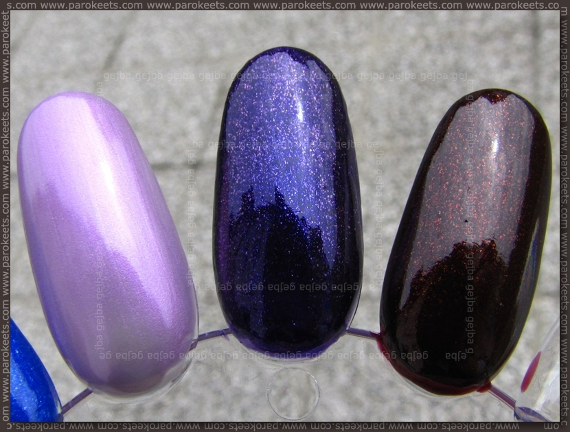 Deborah Pret A Porter: Lilac Seduction, Knock Out Violet, Burgundy Passion