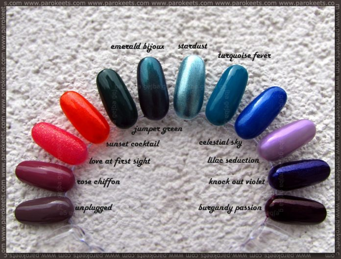 Deborah Pret A Porter nail polishes - nail wheel by Parokeets